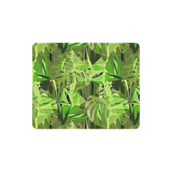 Tropical Jungle Leaves Camouflage Rectangle Mousepad