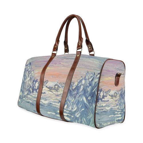 Winter Cabin - Waterproof Travel Bag/Small (Model 1639)