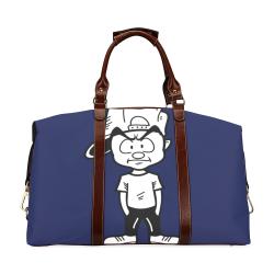 Brown Straps Classic Travel Bag (Model 1643) Remake