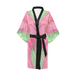 Floral Stained Glass Kimono Robe