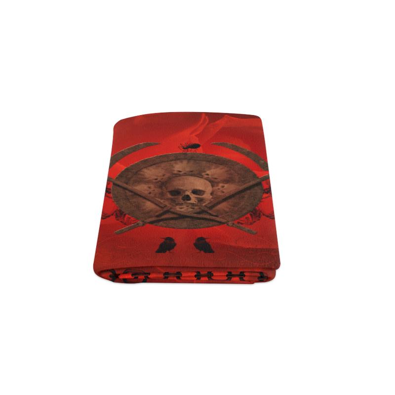"""Skulls on red vintage background Blanket 50""""x60"""""""