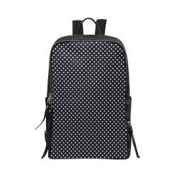 Black polka dots Unisex Slim Backpack (Model 1664)