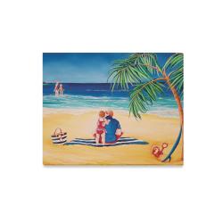 """BEACH DAY Canvas Print 20""""x16"""""""