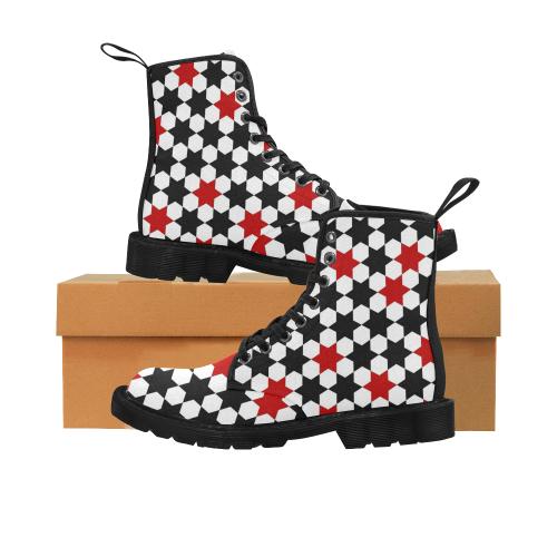 12rb Martin Boots for Women (Black) (Model 1203H)