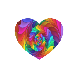 RAINBOW CANDY SWIRL Heart-shaped Mousepad