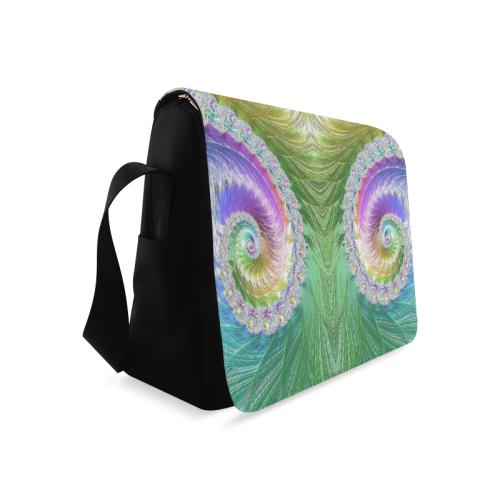 Frax Fractal Rainbow Messenger Bag (Model 1628)
