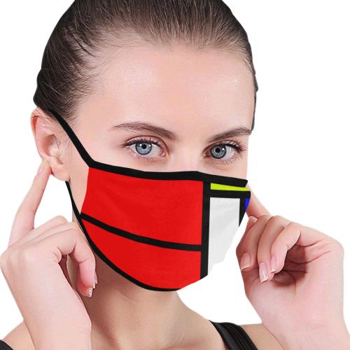 Celebrating Mondrian Mouth Mask