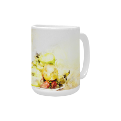 Girl with fruits Custom Ceramic Mug (15OZ)