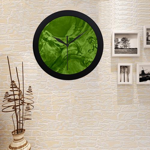 Swirl Green. Circular Plastic Wall clock