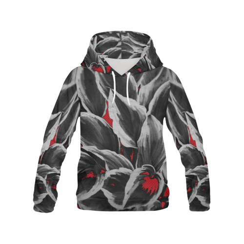leafs_abstract TRY2 18 All Over Print Hoodie (for Men)