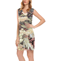 Green Mist Yuma Phoebe Sleeveless V-Neck Dress (Model D09)