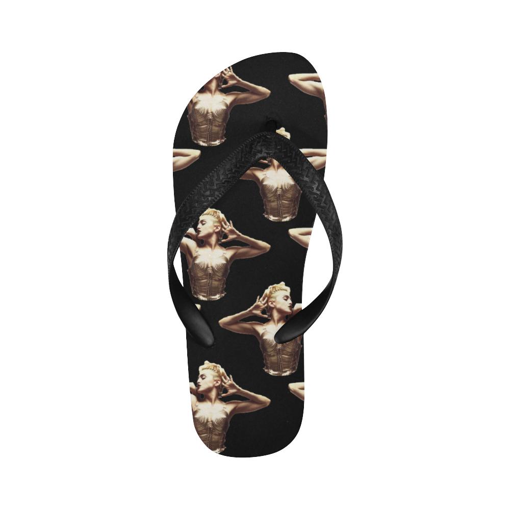 madonna pattern1 Flip Flops for Men/Women (Model 040)