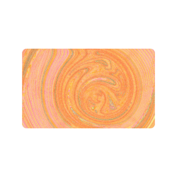 "Peach Abstract Nature's Grain Doormat 30""x18"""
