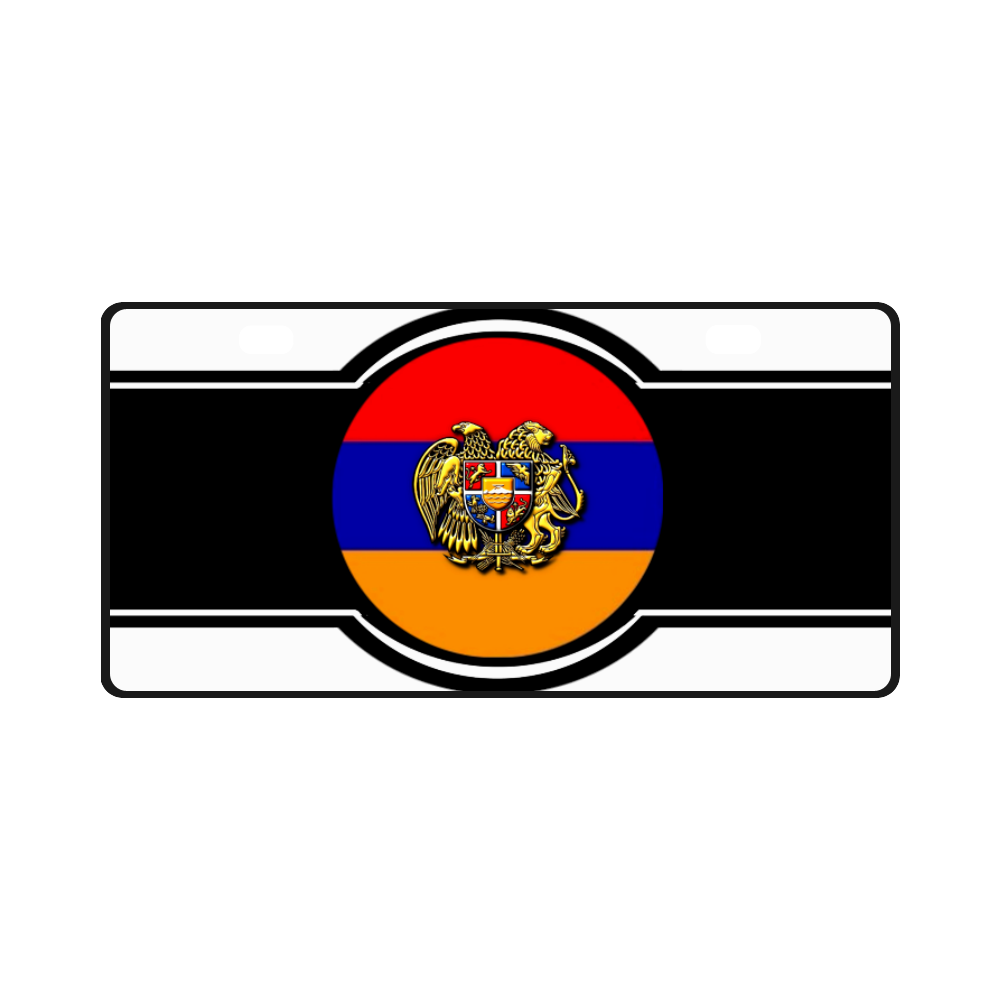 Armenian Flag License Plate