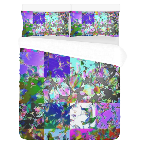 Foliage Patchwork #12 3-Piece Bedding Set