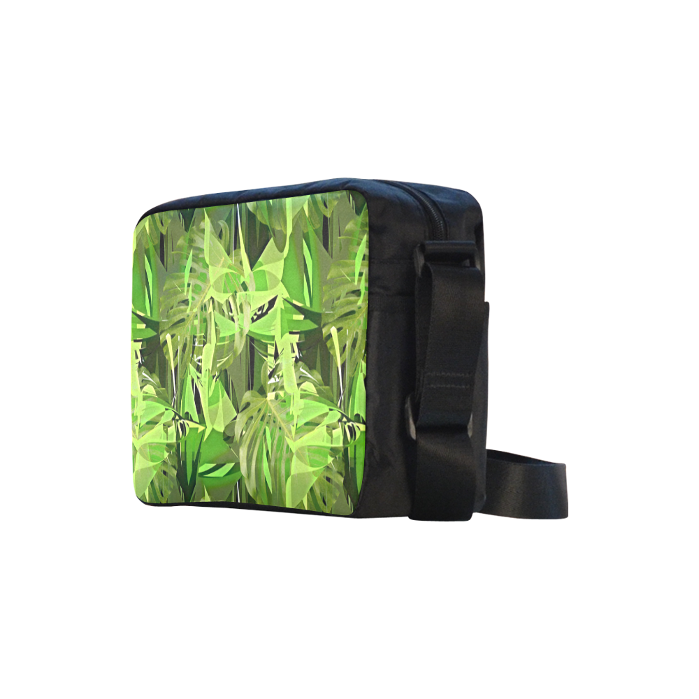 Tropical Jungle Leaves Camouflage Classic Cross-body Nylon Bags (Model 1632)