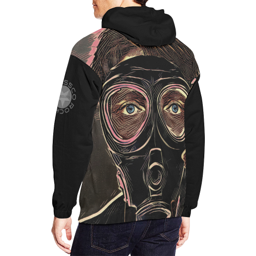 MASK INFERNO CRASSCO All Over Print Hoodie for Men/Large Size (USA Size) (Model H13)