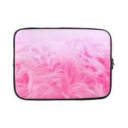 Glam - Pink Fur Custom Sleeve for Laptop 15.6""