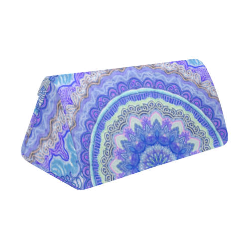 mandala neon 8 Custom Foldable Glasses Case