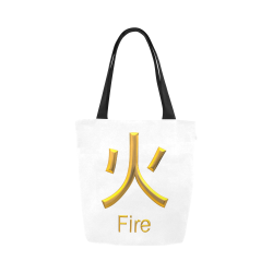 d-Golden Asian Symbol for Fire Canvas Tote Bag (Model 1657)