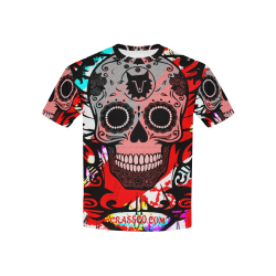 SKULL RED 4 KIDS Kids' All Over Print T-shirt (USA Size) (Model T40)