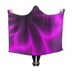 Purple Blossom Hooded Blanket 60''x50''