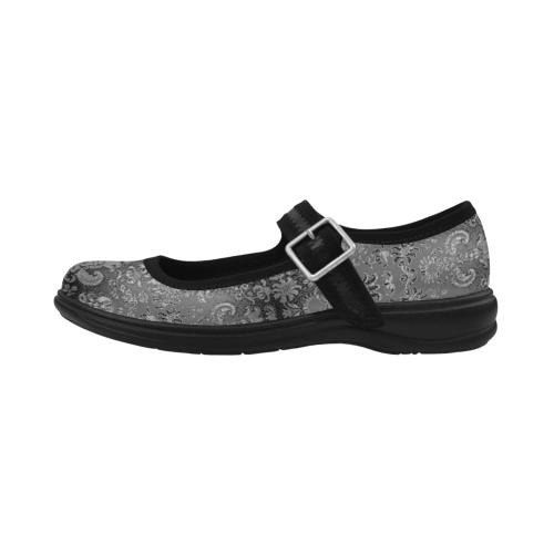 Damask Black Vintage Virgo Instep Deep Mouth Shoes