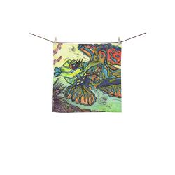 """Mindy the Mandarin Fish square towel Square Towel 13""""x13"""""""