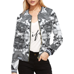 Ribbon Madness All Over Print Bomber Jacket for Women (Model H21)