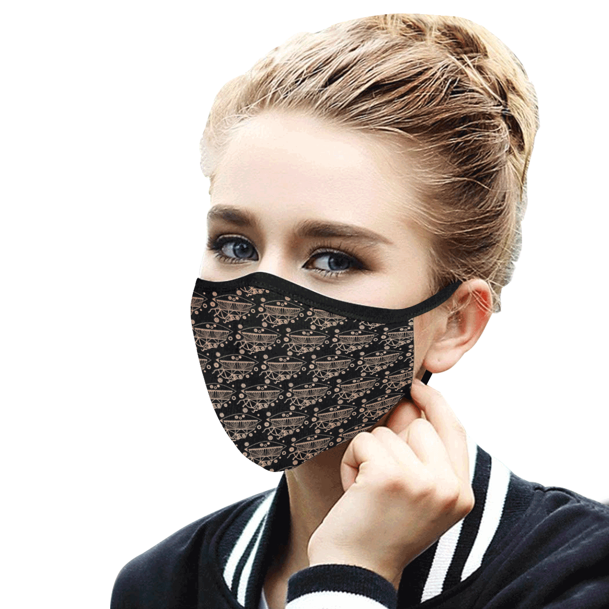 11bl Mouth Mask in One Piece (2 Filters Included) (Model M02) (Non-medical Products)