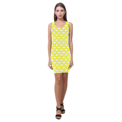 Clouds with Polka Dots on Yellow Medea Vest Dress (Model D06)