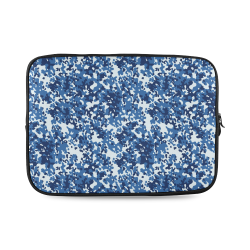Digital Blue Camouflage Custom Laptop Sleeve 14''