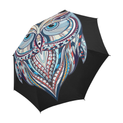 Colorful-Owl-Design-2 Semi-Automatic Foldable Umbrella (Model U05)