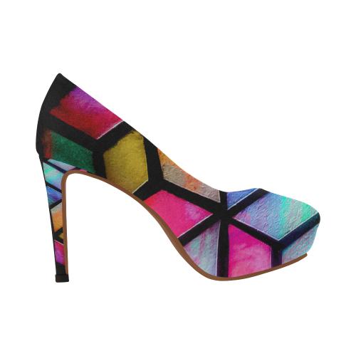 Kaleidoscope Armour Women's High Heels (Model 044)