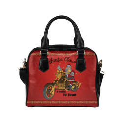 Santa Claus wish you a merry Christmas Shoulder Handbag (Model 1634)