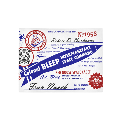 Colonel Bleep Rug Large Area Rug 5'3''x4'