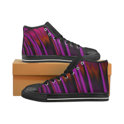 Sunset Waterfall Reflections Abstract Fractal High Top Canvas Women's Shoes/Large Size (Model 017)