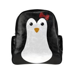 Penguin Kawaii Style Girl Multi-Pockets Backpack (Model 1636)