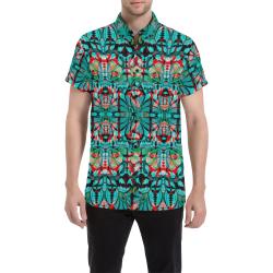 Blue Hawaiian Men's All Over Print Short Sleeve Shirt (Model T53)