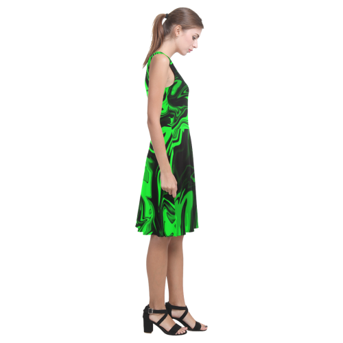 Dark Pastel Greens Atalanta Casual Sundress(Model D04)