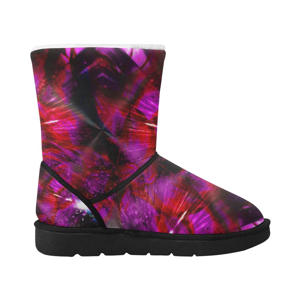 Purple Deep Crew Unisex Single Button Snow Boots (Model 051)