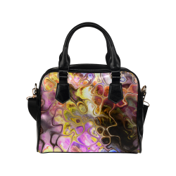 Colorful Marble Design Shoulder Handbag (Model 1634)