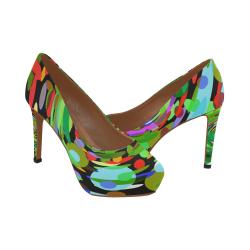 huracan de color Women's High Heels (Model 044)