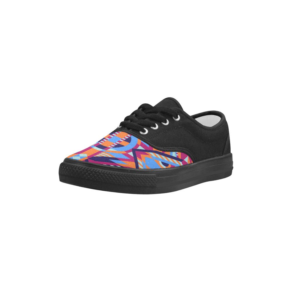 Modern Geometric Pattern Aries Men's Canvas Shoes (Model 029)