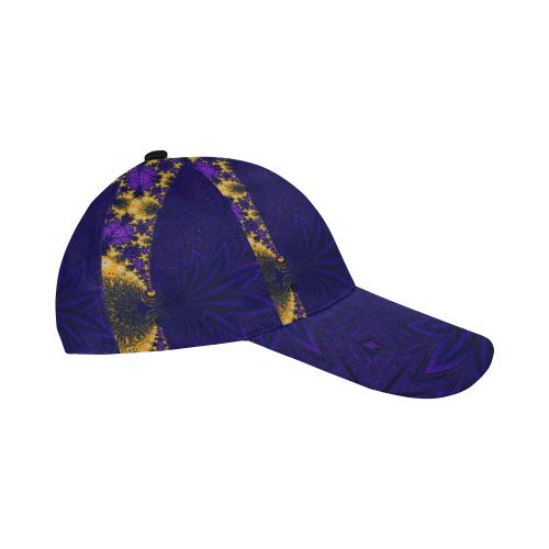 Twilight Jungle Leaves All Over Print Baseball Cap B