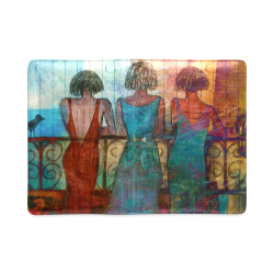 agnes laczo art girls on bridge Custom NoteBook A5