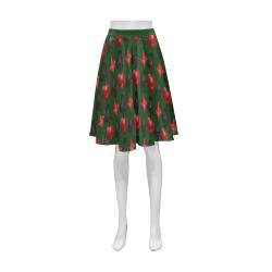 Las Vegas Black and Red Casino Poker Card Shapes on Green Athena Women's Short Skirt (Model D15)