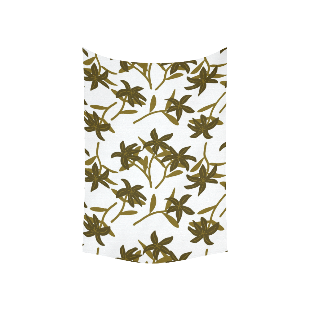 """Fantasy flowers Cotton Linen Wall Tapestry 60""""x 40"""""""