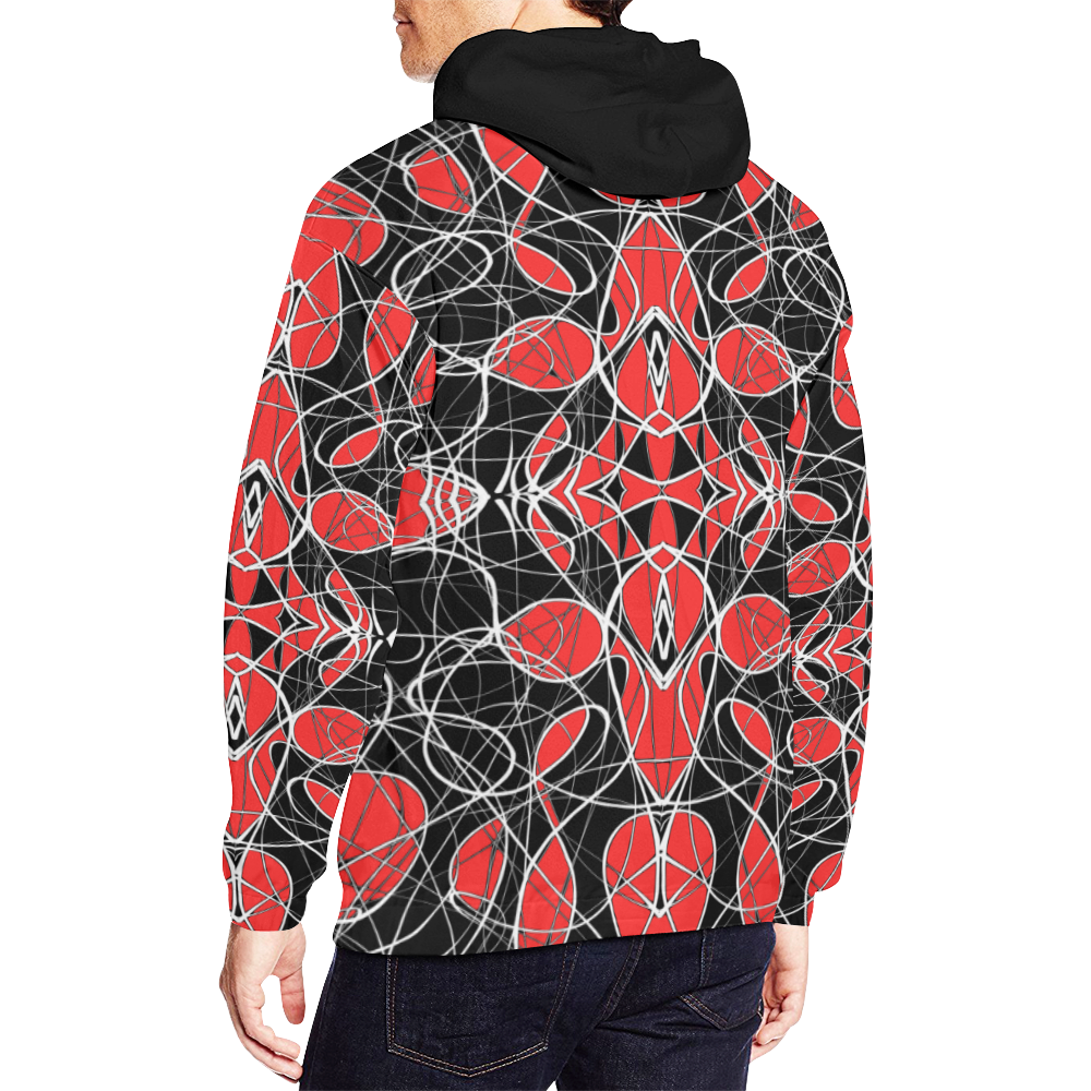 bw fantasy red All Over Print Hoodie for Men (USA Size) (Model H13)