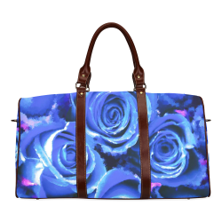 roses are blue Waterproof Travel Bag/Small (Model 1639)